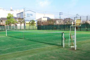 風水テニスコート